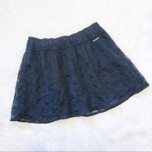 NWT • Abercrombie & Fitch Blue Lace Eyelet Skirt